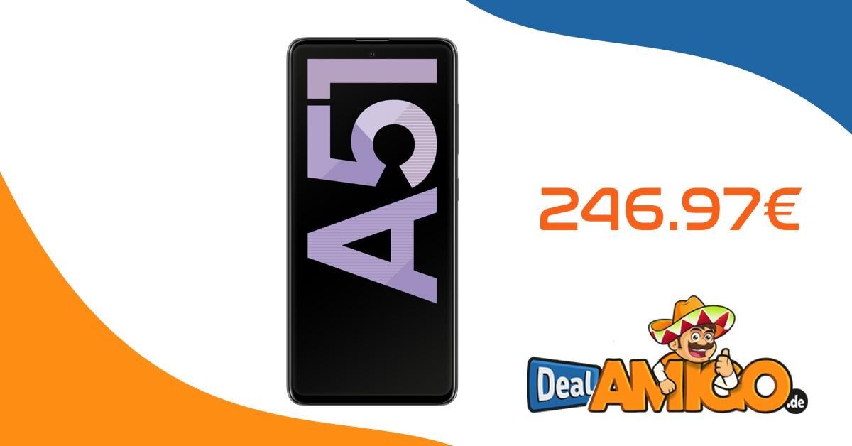 Samsung Galaxy A51 ohne Vertrag nur 246,97 Euro
