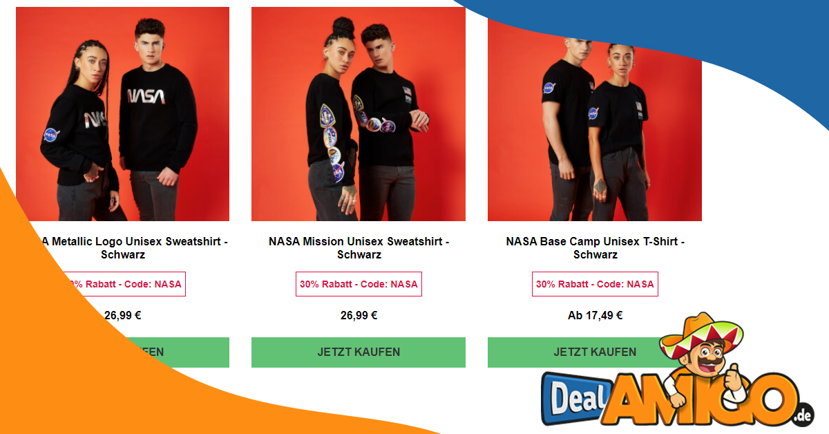 30% Rabatt auf NASA Kollektion und gratis Versand bei Zavvi
