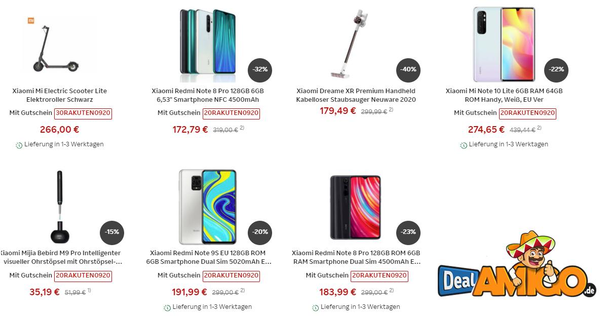 Xiaomi Produkte mit Rabbat bei Rakuten - z.B. Xiaomi Mi TV Stick nur 28,79€ oder Xiaomi Redmi 9A nur 91,90€