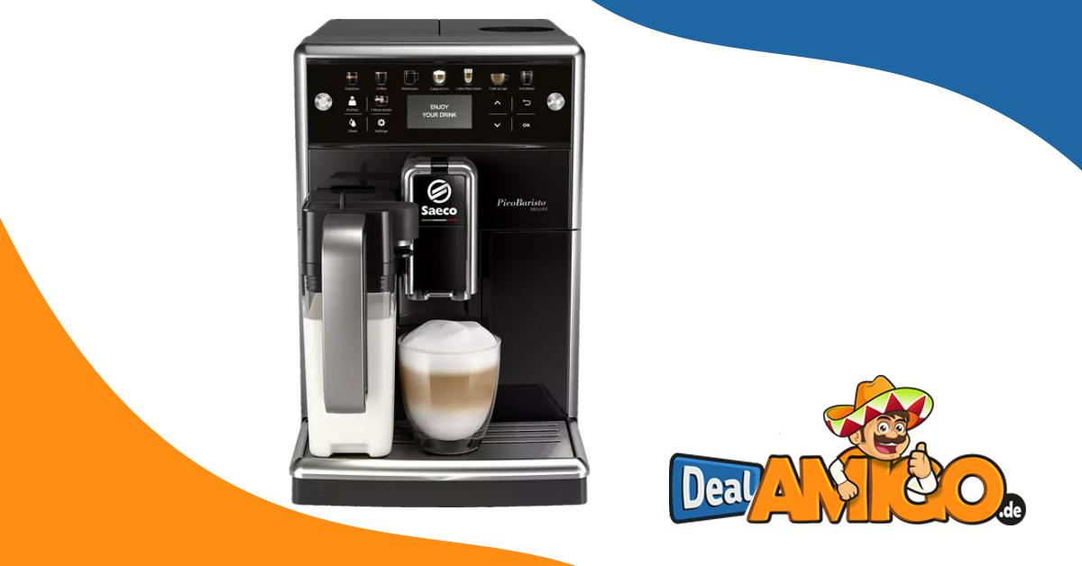 BESTPREIS! SAECO PicoBaristo Deluxe SM5570/10 Kaffeevollautomat Klavierlack/Schwarz nur 447,43 Euro